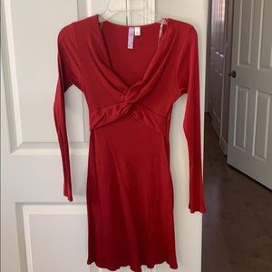 Long sleeve red dress